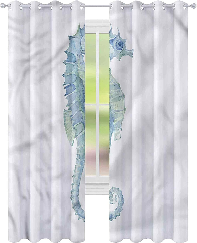 Soldering Window Curtain price Drape Animal Painbrush Photo x W52 L72 Seahorse B