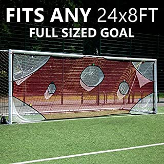 QuickPlay PRO Soccer Goal Target Nets with 7 Scoring Zones – Practice Shooting & Goal Shots.Soccer Goal Frame not Included.