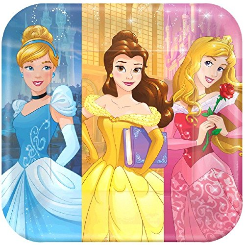 Square Plates | Disney Princess Dream Big Collection | Party Accessory