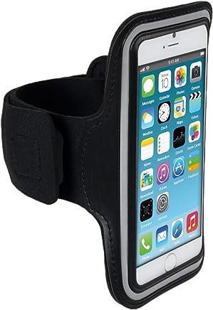 kwmobile Bracelet de Sport pour Apple iPhone 6 / 6S / 7 - Jogging Footing Sac de Sport Bracelet de Fitness avec Compartiment pour clés dans Le Bracelet de Sport en Noir