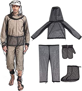 ludonie Outdoor Leisure Fishing Mosquito Suit Four-piece Suit Summer Jungle Adventure Anti-mosquito Bite Clothes Pants