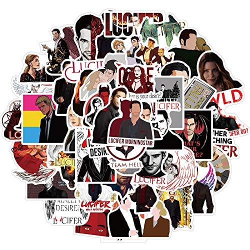 100 piezas / sin agua de la temporada de televisión Lucifer PVC pegatinas para moto, monopatín, portátil, equipaje, juguetes, pegatinas