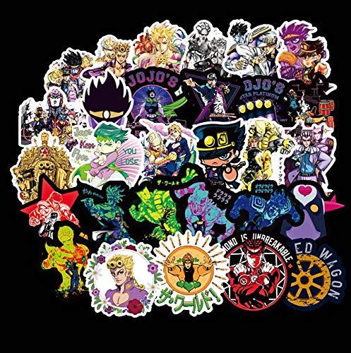50PCS JoJo's Stickers Anime Sticker Waterproof and Doodle Stickers for Kids Teens Adults Laptop Water Bottles Skateboard Guitar