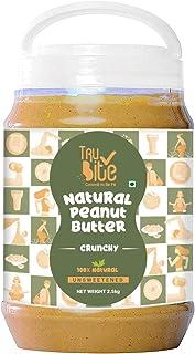 Trubite Natural Peanut Butter (Crunchy) (2.5kg)| Unsweetened | 30g Protein | Non GMO | Gluten Free | Cholesterol Free
