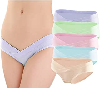5 Pcs Women's Under Bump Cotton Maternity Panties Healthy...