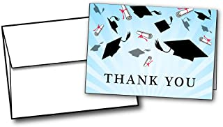 Graduation Caps Thank You Cards