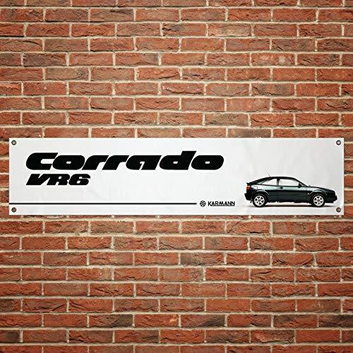 Corrado VR6 PVC-Flagge für Werkstatt, Garage, Größe: 1300 mm x 300 mm