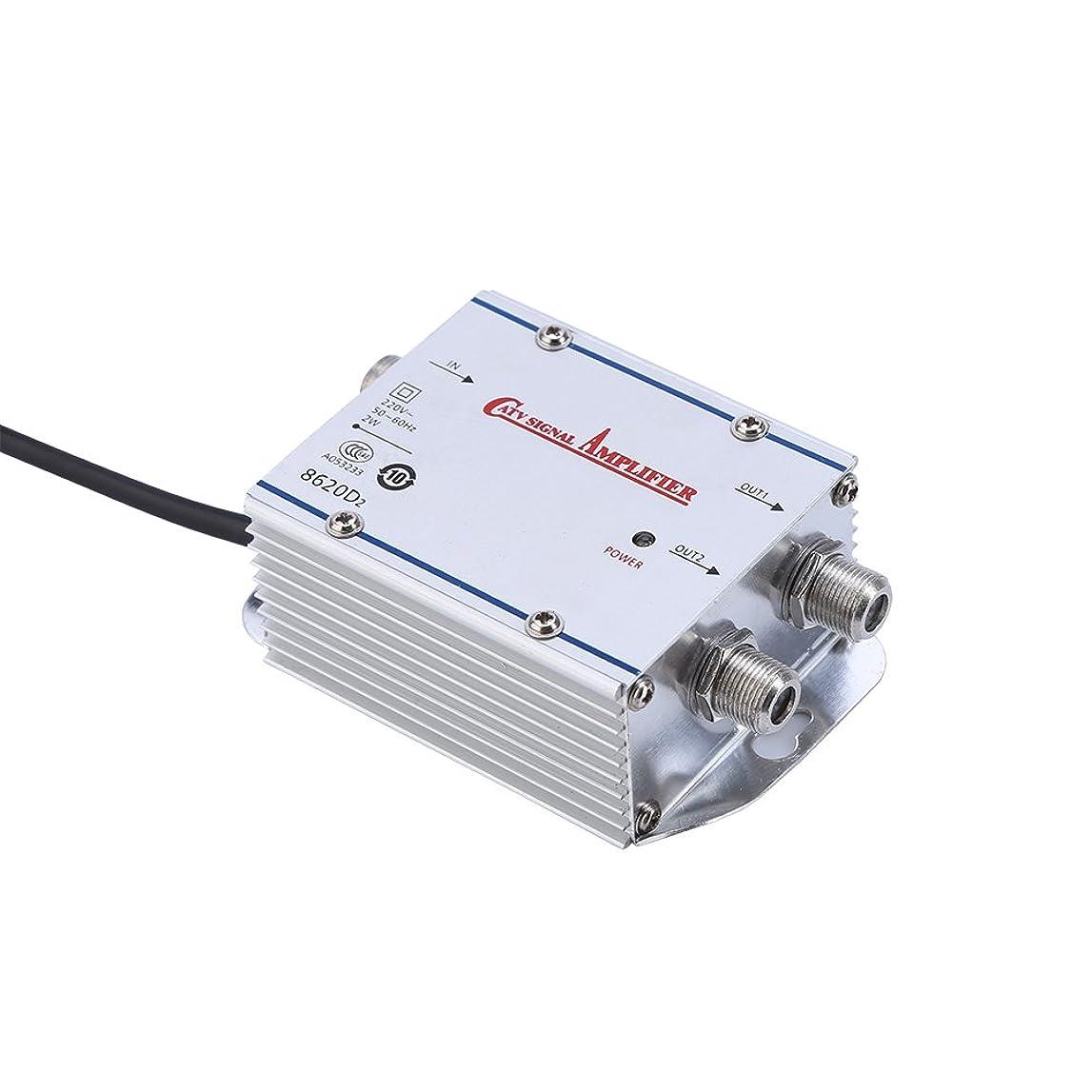 スカープ無し不公平Richer-R TV信号増幅器 標準AC 220V 2ウェイCATV信号増幅器 低ノイズ電流設計 ビデオアプリケーションスプリッタアダプタ