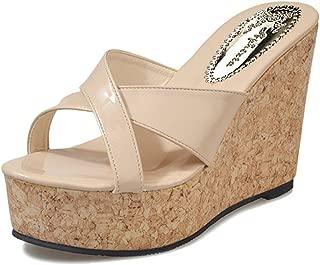 Wedges Flip Flops Sandals for Women,Summer Flat Platform Beach Slipper Shoes