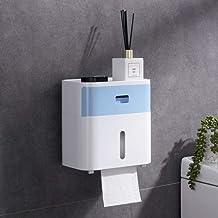 Toiletrolhouder, badkamerweefselhouder voor badkamer, keuken, wasruimte -Lichtblauw