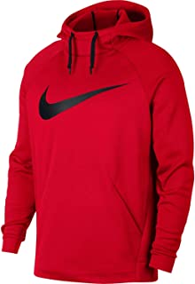 Mens Sweater Large Logo Front Pocket Pullover Hooded