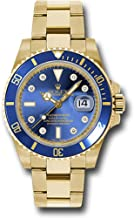 Rolex Oyster Perpetual 40MM 18K Yellow Gold Submariner Date with A Blue Cerachrom Rotatable Bezel and a Blue Dial with Diamond Hour Markers.