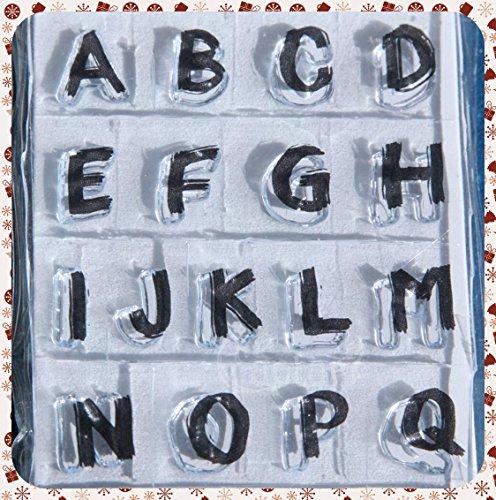cArt-Us Tampon Alphabet Transparent pour Peinture