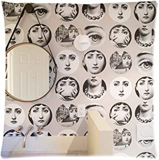 XFGZ Plaque Fornasetti D/écoration 10 Pouces Fornasetti Assiettes D/écoration De Maison D/écoration De No/ël Assiette /À D/îner D/écoratif Vaisselle Murale Noir Blanc Plaques Murales