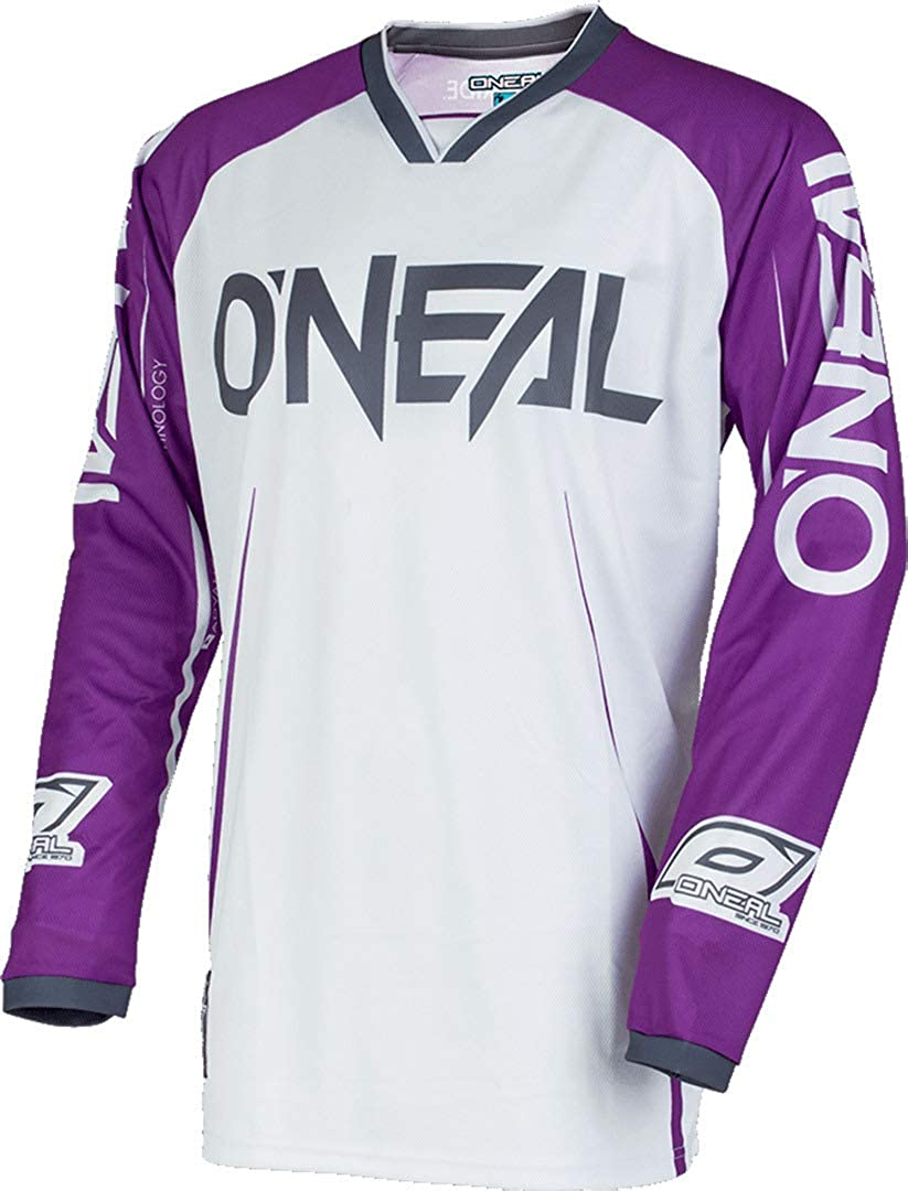 O Neal Mayhem Lite Blocker Mx Jersey Trikot Lang Weiß Lila 2020 Oneal Bekleidung