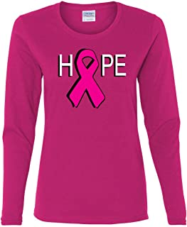 Hope Breast Cancer Awareness Pink Ribbon Long Sleeve T-Shirt