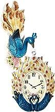 Wall Clock الأسرة الفاخرة الرجعية 360 درجة ساعة الحائط صامتة الكوارتز ساعة مزدوجة على مدار الساعة pp الطاووس الشكل Decorat...