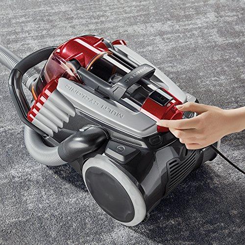 AEG LX9-2-WR-P Staubsauger ohne Beutel (750 W, EEK A, 10 m Aktionsradius, Softräder, 1,8 l Staubbehälter, waschbarer Allergy Plus Filter) rot