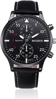 Men Wrist Watch,Napoo Hot Sale Retro Leather Band Analog Alloy Quartz Wrist Watch