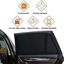 Tedemel UV Protection Car Rear Side Window Sun Shade Anti-Mosquito Net Mesh Curtain (Black)
