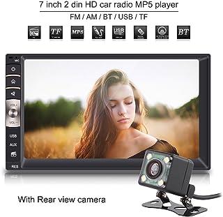 Qiilu Universal Reproductor Multimedia MP5-7 Pulgadas 2 DIN HD Pantalla Táctil Bluetooth USB/TF FM Aux Entrada Radio MP5 P...