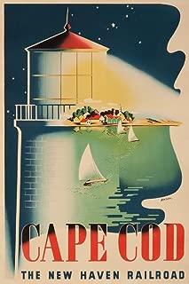 New Haven Railroad - Cape Cod (artist: Nason) USA c. 1945 - Vintage Advertisement (36x54 Giclee Gallery Print, Wall Decor Travel Poster)
