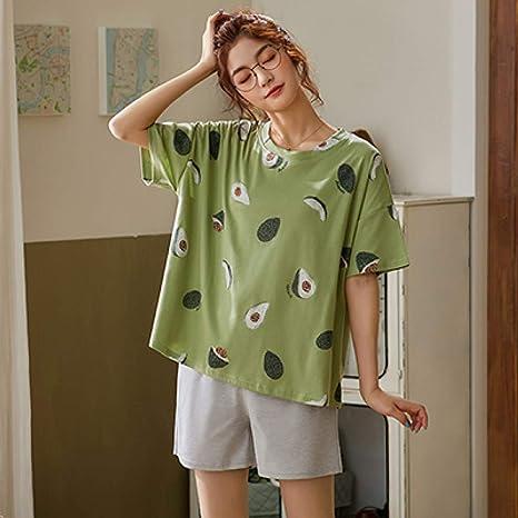 Pijama De Verano Mujer,Verde Ropa Para Dormir, Establece Para ...