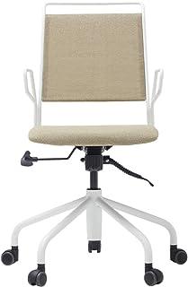 アインスチェア(EINS CHAIR) オフィスチェア (デスクチェア) 背座シンクロロッキング (背面・座面が連動して同時に動く) ガス圧昇降式 組立品 ホワイト EC-250WH