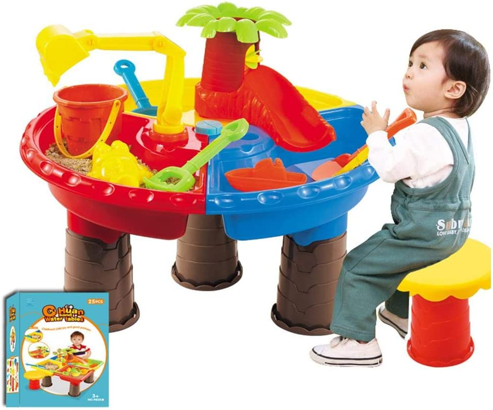 Feileng Limited Our shop OFFers the best service time sale Kids Water and Sand 2-in-1 Garden Table Play