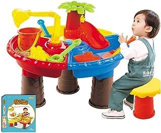 子供の砂場セット22ピース砂と水の砂場テーブル子供砂遊びテーブル水遊びテーブル水庭遊びスペードツールビーチおもちゃ子供のため