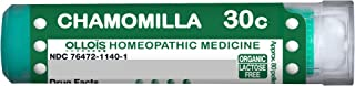 OLLOIS Chamomilla Organic Lactose-Free Homeopathic Medicinal Pellets, 30c, 80 Count (Pack of 1)