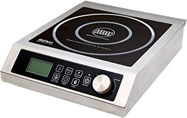 """Max Burton 6535 Digital ProChef-3000 Induction Cooktop, Stainless-Steel Body, Larger 9"""" Coil To Handle Larger Cookware, 1"""