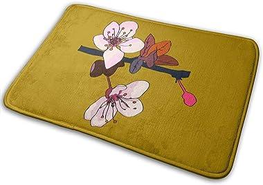 Sakura Cherry Blossoms Carpet Non-Slip Welcome Front Doormat Entryway Carpet Washable Outdoor Indoor Mat Room Rug 15.7 X 23.6