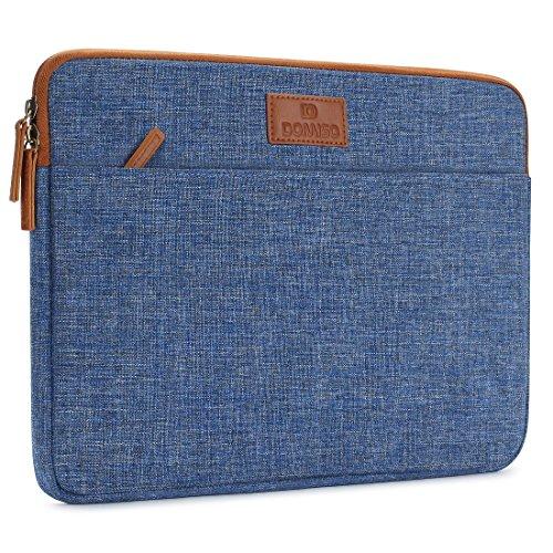 DOMISO 11.6 Zoll Laptophülle Hülle Tasche Sleeve Case Etui Notebook Schutzhülle Canvas-Gewebe für 11.6 Notebook Computer Chromebook / 11.6 MacBook Air / 12.3 Microsoft Surface Pro 4, Blau