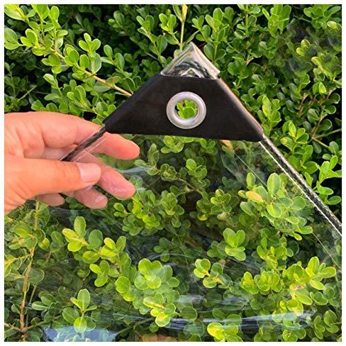 GONGSI Tarpaulina Transparente, Hoja de plástico PE a Prueba de Agua a Prueba de Agua con Ojales para Cortina a Prueba de Lluvias al Aire Libre, 26 tamaños (Color : Clear, Size : 1.4x3m)
