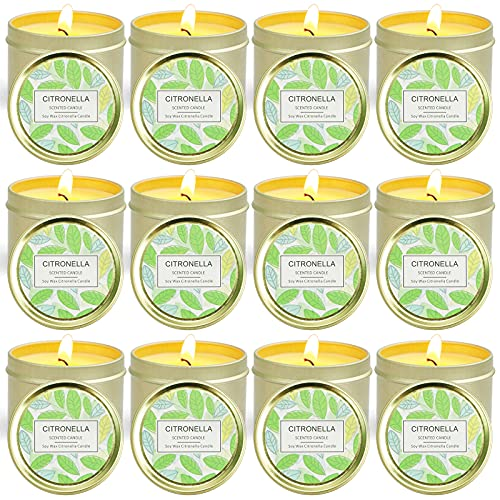 STRN Citronella Candles Outdoor, Scented Candles,...