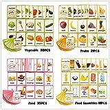 96PCS / Set Animal Aprendizaje Inglés Tarjetas Flash for niños Montessori Juguetes educativos Aula Decoración Memorie Juegos (Color : Style 2)