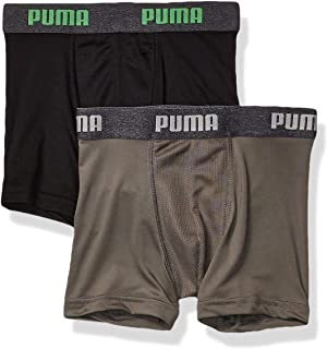 PUMA Boys Boys' 2 Pack Tech Boxer Brief Boxer Briefs