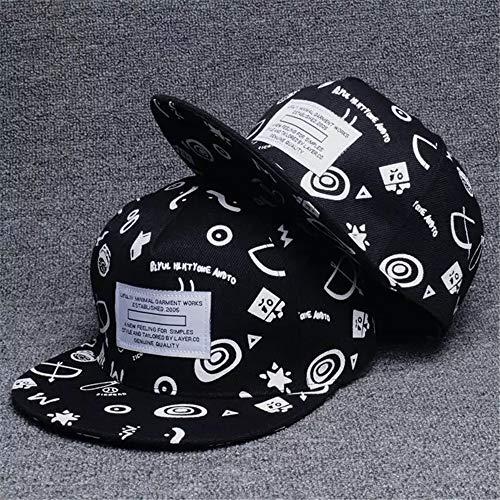 Hello Grigio Cappello Hip Hop Coreano Protezione Solare Berretto da Baseball da Ricamo Cappello Piatto Paio Graffiti Nero Regolabile