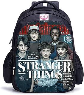 Mochila Stranger Things Escolar, Mochila Stranger Things Niña y Niños Grande Adolescente Chicas Primaria Mochilas y Bolsas Escolares Impresión 3D Juvenil Bolsa Infantil (05)