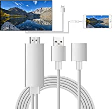 Viste Smart Phone HDMI Adapter,MHL to HDMI Video Adapter 1080P HDTV Cable Compatible with iPhone XS/X/8/7/6 Series iPad Air/Mini/Pro,Samsung S7/S8/S9/Note5/6/7to HDTV Projector Monitor