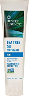 Desert Essence Tea Tree Oil Toothpaste - Mint - 6.25 Oz - Refreshing Taste - Deep Cleans Teeth & Gums - Helps Fight Plaque...