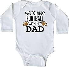 inktastic Watching Football with My Dad Long Sleeve Creeper