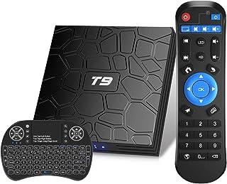comprar comparacion Android TV Box, T9 Android 9.0 TV Box con Mini Teclado inalámbrico 4GB RAM 32GB ROM RK3318 Bluetooth 4.0 Procesador Quad-C...