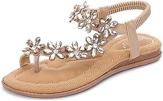 f2d8a9c0344645 Oliviavane Sandales Compensées Femmes Strass Plates Claquettes Tongs Bride  Modal Fashion Cheville Sandals Sandals Strass Sport