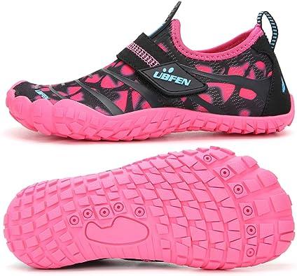 UBFEN Chaussures Aquatiques Enfants Filles Garçon Chaussures de Plage Pieds Nus Séchage Rapide Chaussures de Natation pour Plage Piscine Surf Plongée ...