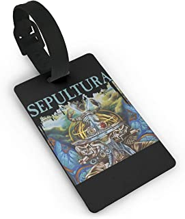 LuckyTagy Sepultura Machine Messiah Vintage Luggage Tag Initial Bag Tag Suitcase Tag Travel Bag