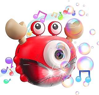 KingServe Bubble Machine Automatic Bubble Blower, Bubble Maker with Music and Light for Kids 2000+ Bubbles/min, Bubble Boy...
