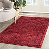 Safavieh Adirondack Collection ADR108F Oriental Medallion Non-Shedding Stain Resistant Living Room Bedroom Area Rug, 3' x 5', Red / Black