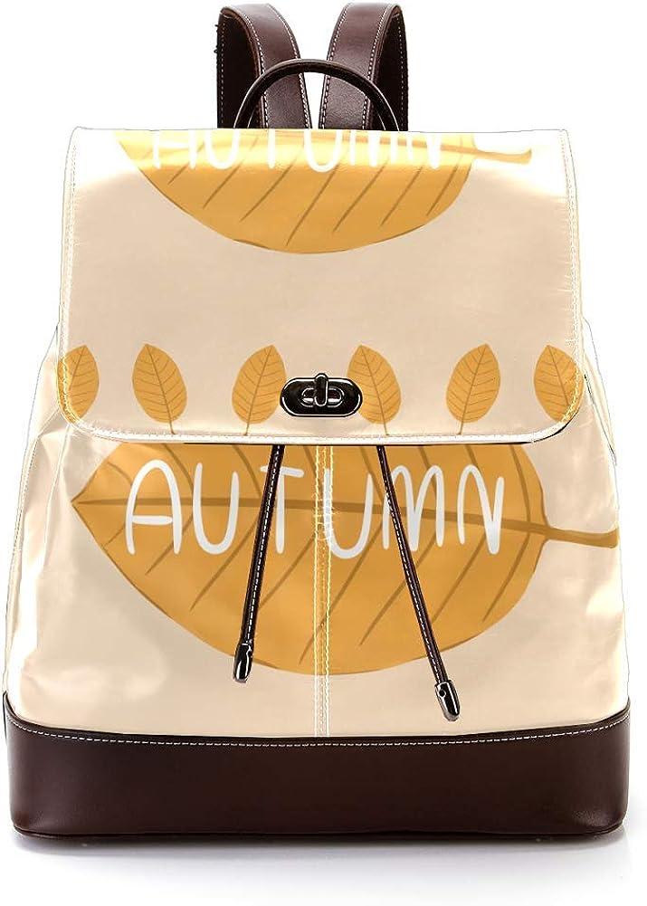 Autumn PU Leather Backpack Fashion Shoulder Bag Rucksack Travel Bag for Women Girls